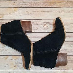 Aldo black suede laced back bootie